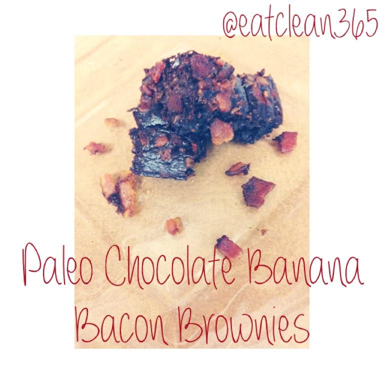 Paleo Chocolate Banana Bacon Brownies