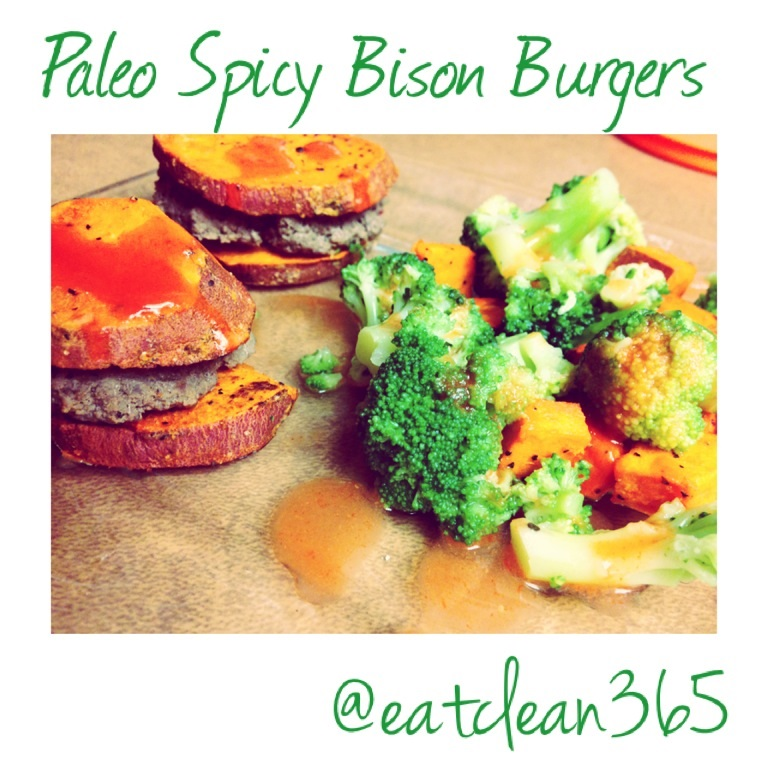 Paleo Spicy Bison Burgers
