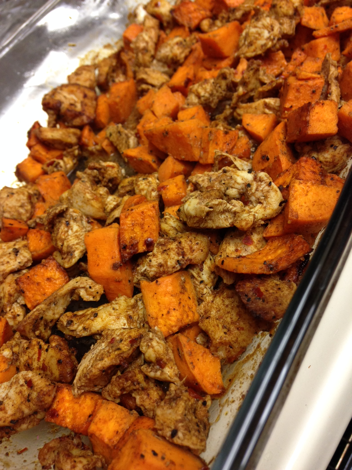 Sweet Potatoes and Chicken