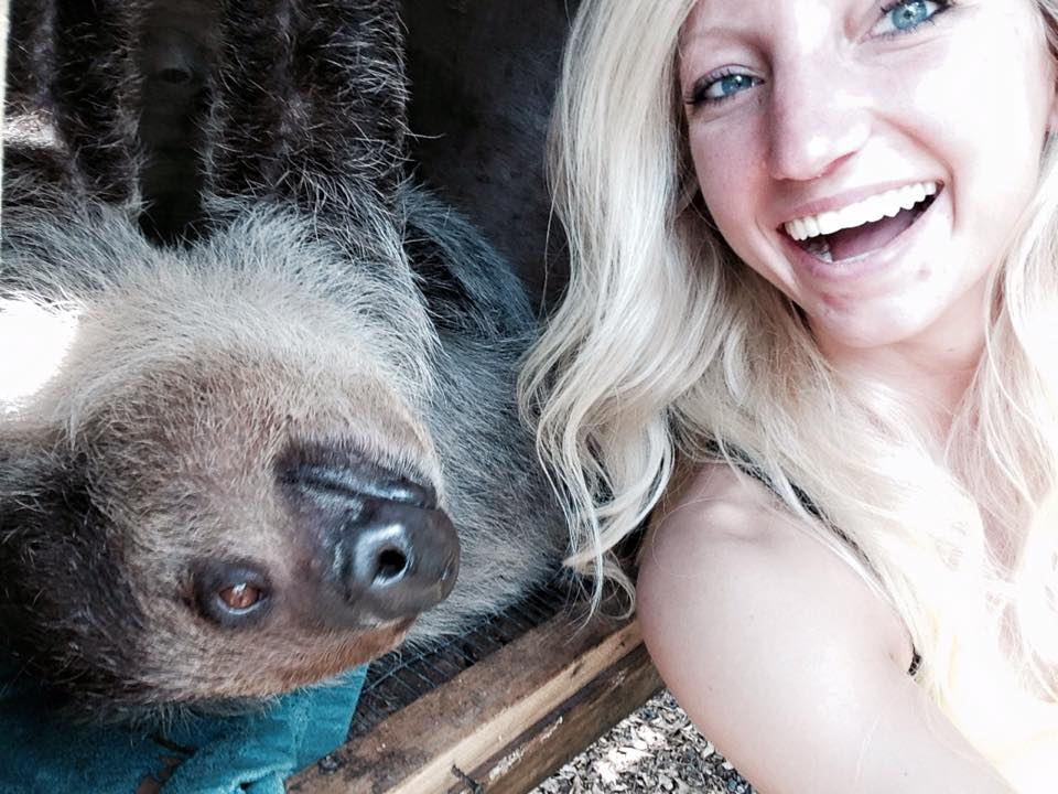 sloth selfie