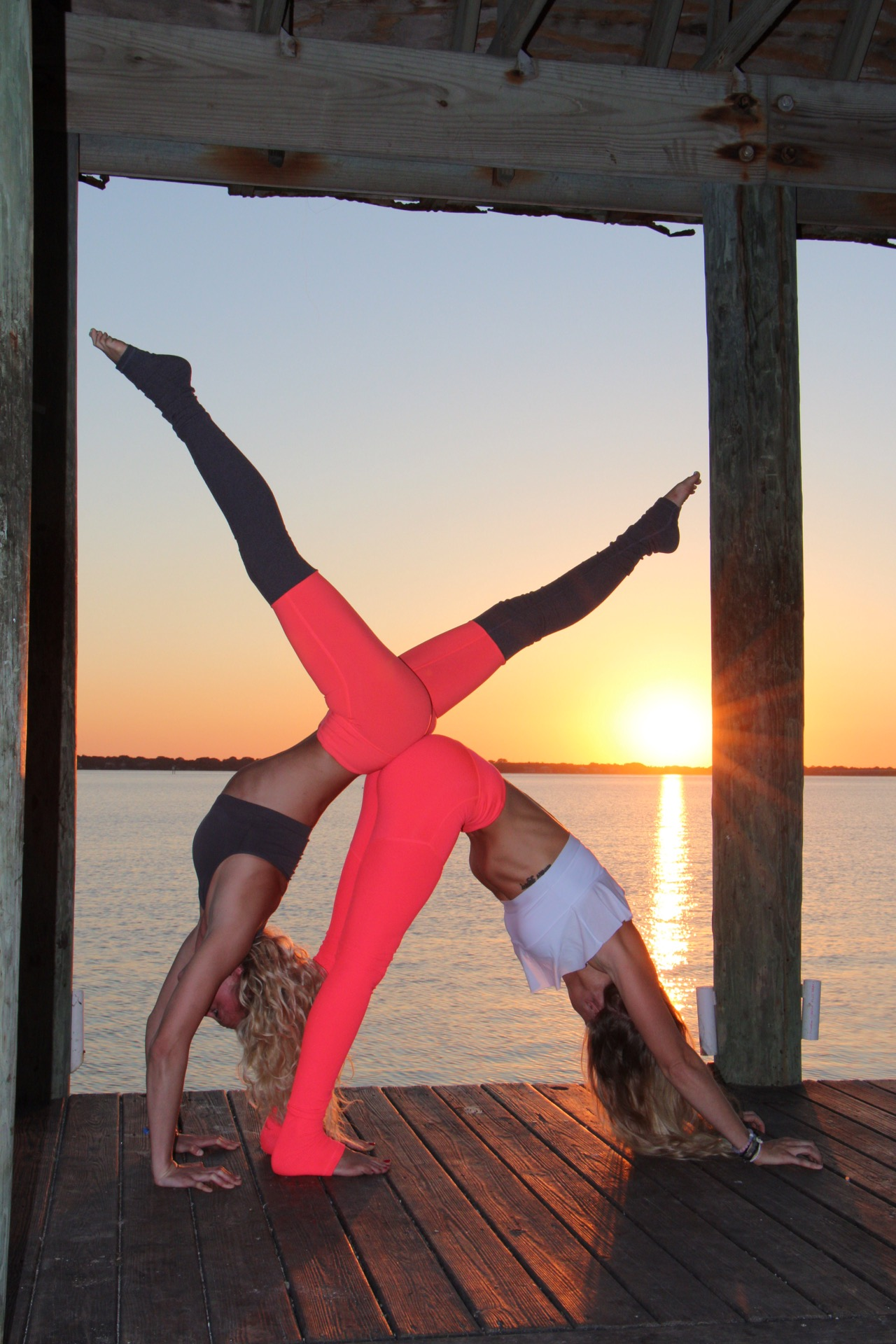 Sunset Yoga Blondes