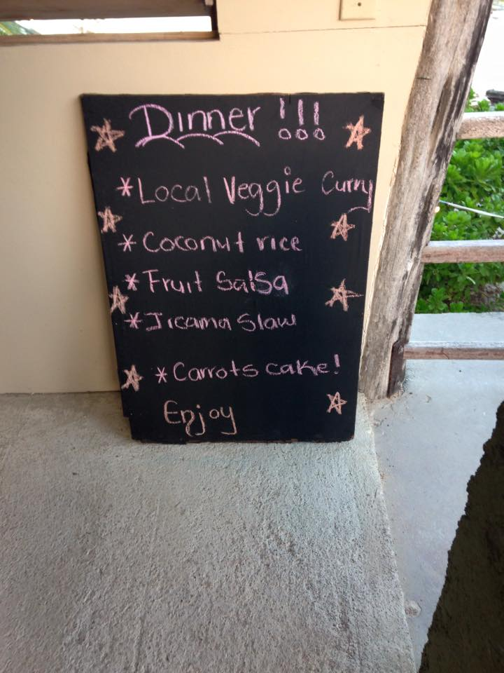 Dinner Menu! Carrots Cake was the BEST