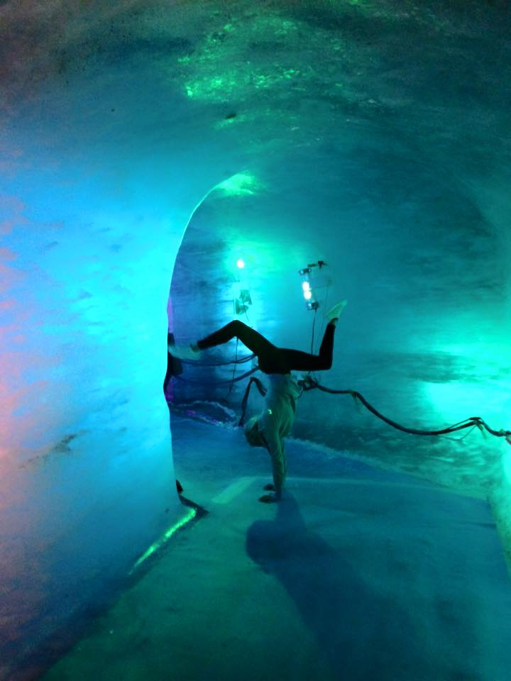 ice cave handstand